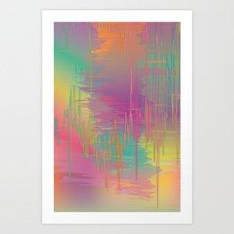 Rainbow Storm Art Print