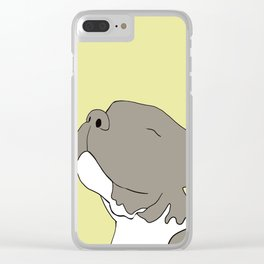 Sunny The Pitbull Puppy Clear iPhone Case