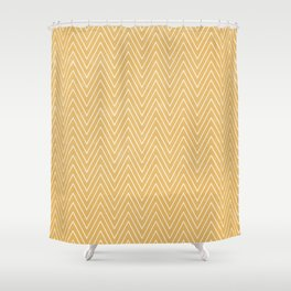 Mustard Chevron Shower Curtain