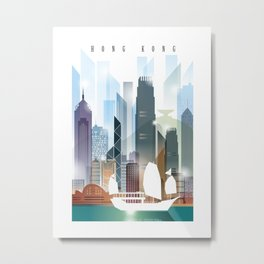 The city skyline of Hong Kong Metal Print