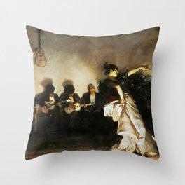 El Jaleo by John Singer Sargent - Vintage Fine Art Oil Painting Throw Pillow