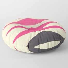 Colorful Pink Geometric Triangle Pattern With Black Accent Floor Pillow