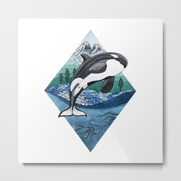 Hyshqa - Souther Resident Killer Whale Metal Print