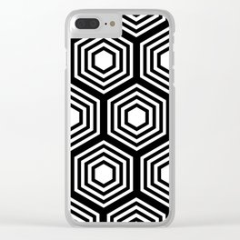 Monochrome Hex Clear iPhone Case