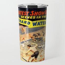 19th Century Barnum & Bailey – Grand Water Circus Act Poster Travel Mug