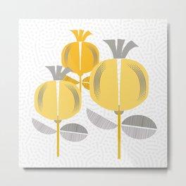 Capsules Yellow Metal Print