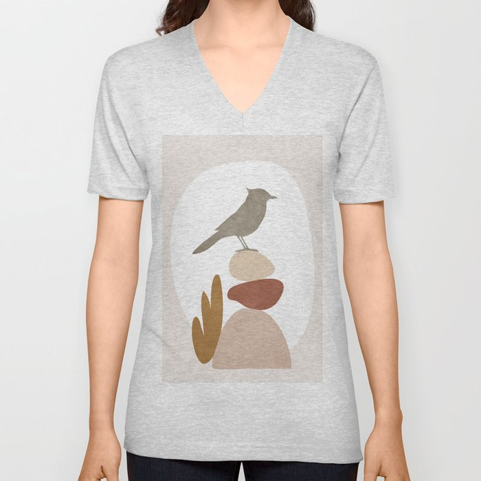 Cute Little Bird III Unisex V-Neck