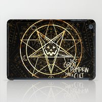 pentagram iPad Cases featuring Cult of the Great Pumpkin: Pentagram by Chad Savage