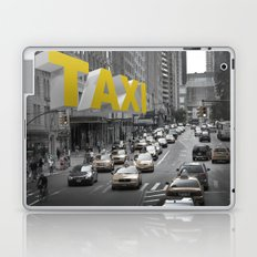 New York Taxi in the air Laptop & iPad Skin