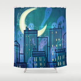 This City is Full of Ghosts (I) Shower Curtain