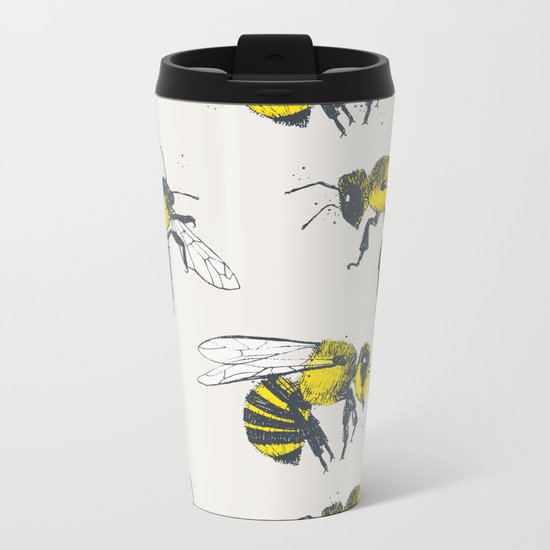 Bees Metal Travel Mug