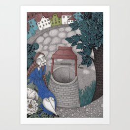 Frau Holle--Up is Down, Down is Up (The Well) Art Print
