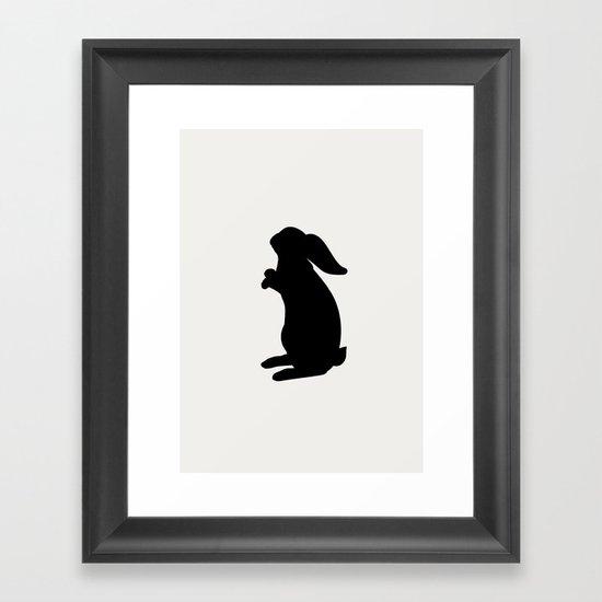 Positive Posters Rabbit Framed Art Print