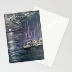 By the Light of the Silvery Moon Stationery Cards