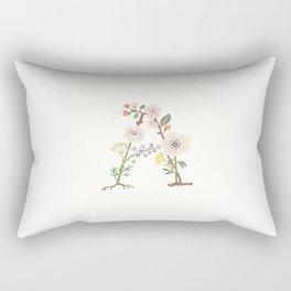 Botanical Letters A Rectangular Pillow