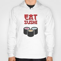 sushi Hoodies featuring Sushi by flydesign