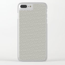 7 DIRTY WORDS Clear iPhone Case
