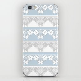 The blue lace . iPhone Skin