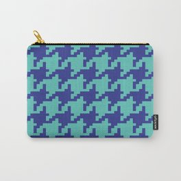 Houndstooth - Blue & Turquoise Carry-All Pouch