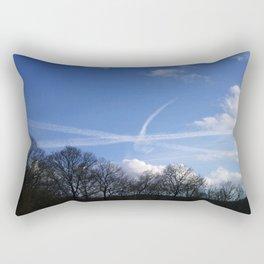 Plane Drawing Rectangular Pillow