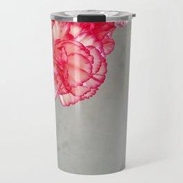 Corner  Pink Carnations Travel Mug