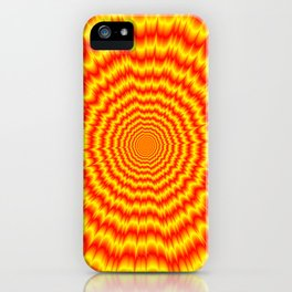 Big Bang in Red and Yellow iPhone Case