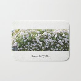 Roses For You Bath Mat