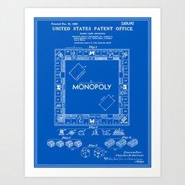 Monopoly art prints society6 monopoly patent blueprint art print malvernweather Choice Image