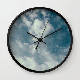 Soft Dreamy Cloudy Sky Wall Clock