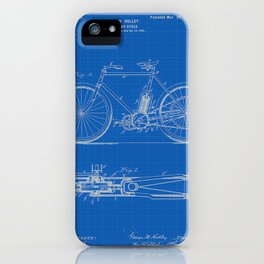 1901 G M Holley Motorcycle Patent Blueprint iPhone Case