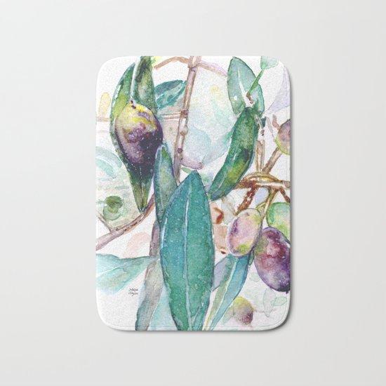 Olive Bath Mat