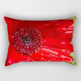 Red Gerber Daisy Rectangular Pillow