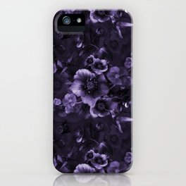 Moody florals purple by Odette Lager iPhone Case