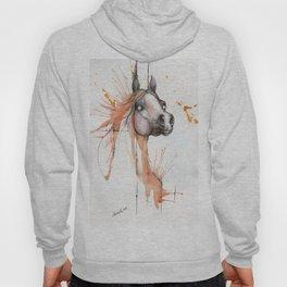 Equine watercolor art Hoody
