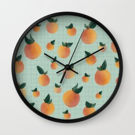 Country Clementines Wall Clock
