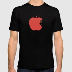 Apple 30 MEDIUM Black Mens Fitted Tee