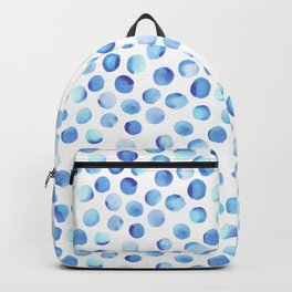 Watercolor Dots // Light Blue Backpack