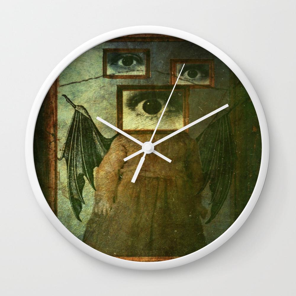 Bat Wall Clock By Talawakanda