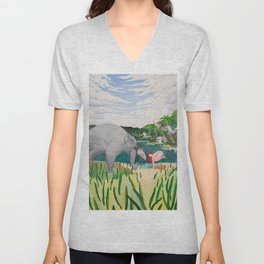 BORN ON THE WETLANDS Unisex V-Neck