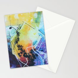 Harmony colourful  abstract artwork Stationery Cards