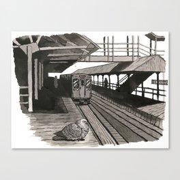 Pigeon at CTA Station Canvas Print