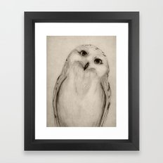 Snowy Owl Sketch Framed Art Print
