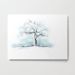 Sketch of Tree Metal Print