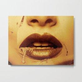 Ladylike golden Metal Print