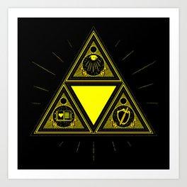 Light Of Triangle Art Print