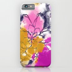 Abstract Flowers - Watercolour Paiting iPhone 6s Slim Case