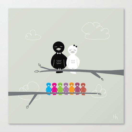 The Happy Family Canvas Print