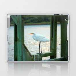 Egret Keeping Watch Laptop & iPad Skin
