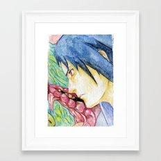 Sasuke Watercolor Framed Art Print