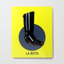 La Bota Mexican Loteria Card Metal Print